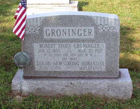 GRONINGER, ROBERT STOEY - Juniata County, Pennsylvania   ROBERT STOEY GRONINGER - Pennsylvania Gravestone Photos