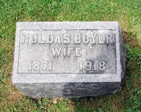 BOYER GRONINGER, SARAH HULDA - Juniata County, Pennsylvania   SARAH HULDA BOYER GRONINGER - Pennsylvania Gravestone Photos