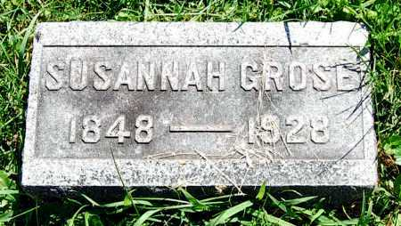 GROSE, SUSANNAH - Juniata County, Pennsylvania   SUSANNAH GROSE - Pennsylvania Gravestone Photos