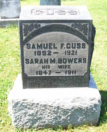 BOWERS GUSS, SARAH M. - Juniata County, Pennsylvania | SARAH M. BOWERS GUSS - Pennsylvania Gravestone Photos