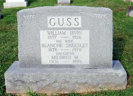 SHEESLEY GUSS, BLANCHE M. - Juniata County, Pennsylvania | BLANCHE M. SHEESLEY GUSS - Pennsylvania Gravestone Photos