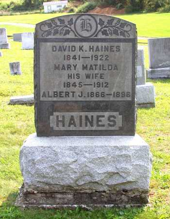 HAINES, ALBERT J. - Juniata County, Pennsylvania | ALBERT J. HAINES - Pennsylvania Gravestone Photos