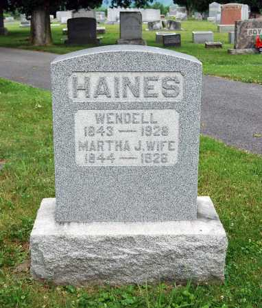 HAINES, WENDELL RICE - Juniata County, Pennsylvania | WENDELL RICE HAINES - Pennsylvania Gravestone Photos