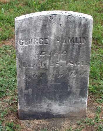 HAMLIN, GEORGE - Juniata County, Pennsylvania   GEORGE HAMLIN - Pennsylvania Gravestone Photos