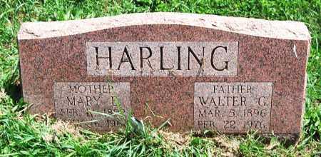 HARLING, WALTER G. - Juniata County, Pennsylvania | WALTER G. HARLING - Pennsylvania Gravestone Photos
