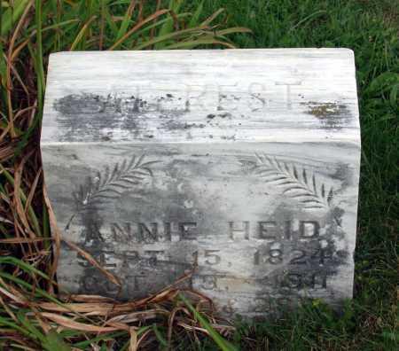HEID, ANNIE - Juniata County, Pennsylvania | ANNIE HEID - Pennsylvania Gravestone Photos