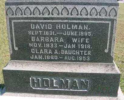 HOLMAN, DAVID - Juniata County, Pennsylvania | DAVID HOLMAN - Pennsylvania Gravestone Photos
