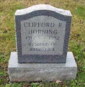 HORNING, CLIFFORD R. - Juniata County, Pennsylvania | CLIFFORD R. HORNING - Pennsylvania Gravestone Photos