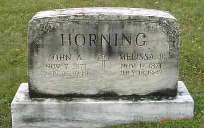 HORNING, MELISSA B. - Juniata County, Pennsylvania | MELISSA B. HORNING - Pennsylvania Gravestone Photos