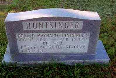 HUNTSINGER, DONALD MAYNARD - Juniata County, Pennsylvania | DONALD MAYNARD HUNTSINGER - Pennsylvania Gravestone Photos
