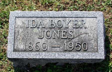 BOYER JONES, IDA - Juniata County, Pennsylvania | IDA BOYER JONES - Pennsylvania Gravestone Photos