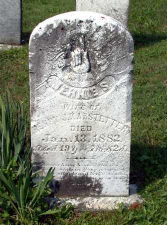 KARSTETTER, JENNIE S. - Juniata County, Pennsylvania | JENNIE S. KARSTETTER - Pennsylvania Gravestone Photos