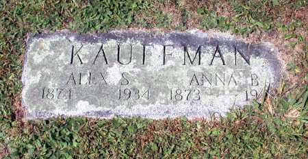 KAUFFMAN, ANNA B. - Juniata County, Pennsylvania | ANNA B. KAUFFMAN - Pennsylvania Gravestone Photos
