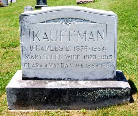 KAUFFMAN, CLARA AMANDA - Juniata County, Pennsylvania | CLARA AMANDA KAUFFMAN - Pennsylvania Gravestone Photos