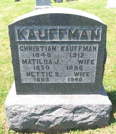 KAUFFMAN, MATILDA J. - Juniata County, Pennsylvania   MATILDA J. KAUFFMAN - Pennsylvania Gravestone Photos