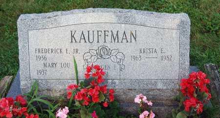 KAUFFMAN, MARY LOU - Juniata County, Pennsylvania   MARY LOU KAUFFMAN - Pennsylvania Gravestone Photos