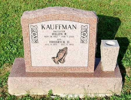 KAUFFMAN, FREDERICK D. - Juniata County, Pennsylvania | FREDERICK D. KAUFFMAN - Pennsylvania Gravestone Photos