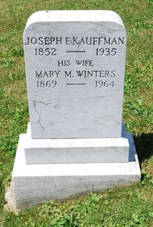KAUFFMAN, JOSEPH F. - Juniata County, Pennsylvania | JOSEPH F. KAUFFMAN - Pennsylvania Gravestone Photos