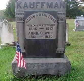 KAUFFMAN, ANNIE C. - Juniata County, Pennsylvania | ANNIE C. KAUFFMAN - Pennsylvania Gravestone Photos