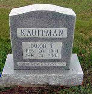 KAUFFMAN, JACOB T. - Juniata County, Pennsylvania | JACOB T. KAUFFMAN - Pennsylvania Gravestone Photos