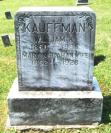 KAUFFMAN, MARY - Juniata County, Pennsylvania | MARY KAUFFMAN - Pennsylvania Gravestone Photos