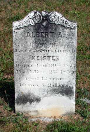 KEISTER, ALBERT A. - Juniata County, Pennsylvania | ALBERT A. KEISTER - Pennsylvania Gravestone Photos