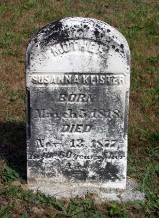 KEISTER, SUSANNAH - Juniata County, Pennsylvania | SUSANNAH KEISTER - Pennsylvania Gravestone Photos
