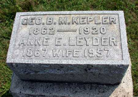 KEPLER, GEORGE B. M. - Juniata County, Pennsylvania | GEORGE B. M. KEPLER - Pennsylvania Gravestone Photos