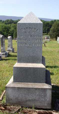 KEPNER, BARBARA - Juniata County, Pennsylvania | BARBARA KEPNER - Pennsylvania Gravestone Photos