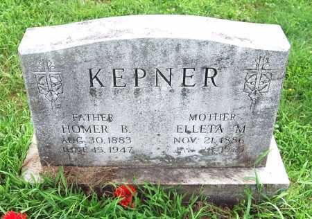 BOOKWALTER KEPNER, MARY ELLETA - Juniata County, Pennsylvania | MARY ELLETA BOOKWALTER KEPNER - Pennsylvania Gravestone Photos