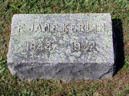 "KOONS KERLIN, FRANCES JANE ""JENNIE"" - Juniata County, Pennsylvania | FRANCES JANE ""JENNIE"" KOONS KERLIN - Pennsylvania Gravestone Photos"