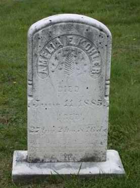 KOHLER, AMELIA E. - Juniata County, Pennsylvania | AMELIA E. KOHLER - Pennsylvania Gravestone Photos