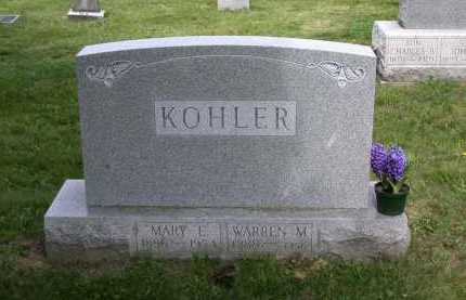 KOHLER, MARY E. - Juniata County, Pennsylvania | MARY E. KOHLER - Pennsylvania Gravestone Photos