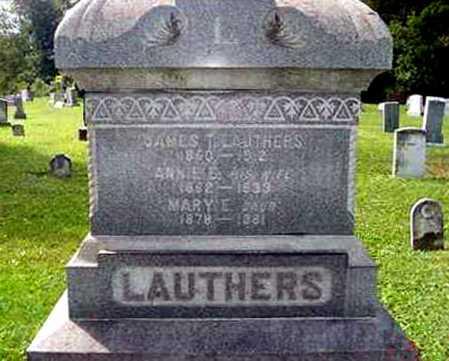LAUTHERS, JAMES T. - Juniata County, Pennsylvania | JAMES T. LAUTHERS - Pennsylvania Gravestone Photos