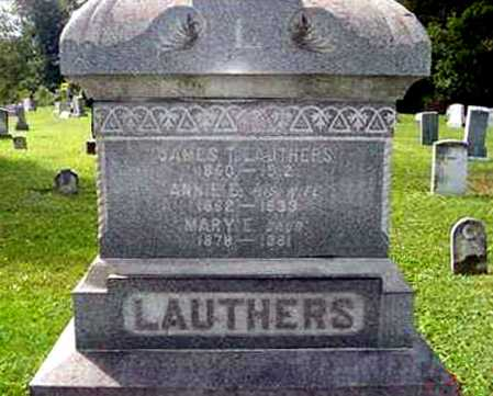 HAYES LAUTHERS, ANNIE E. - Juniata County, Pennsylvania | ANNIE E. HAYES LAUTHERS - Pennsylvania Gravestone Photos