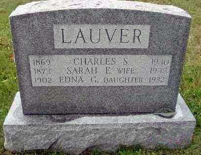 LAUVER, CHARLES S. - Juniata County, Pennsylvania | CHARLES S. LAUVER - Pennsylvania Gravestone Photos
