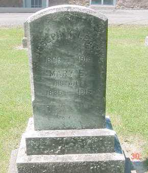 ALLEN LEACH, MARY E. - Juniata County, Pennsylvania | MARY E. ALLEN LEACH - Pennsylvania Gravestone Photos