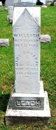 LEACH, MARY SUSANNAH - Juniata County, Pennsylvania | MARY SUSANNAH LEACH - Pennsylvania Gravestone Photos