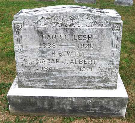 ALBERT LESH, SARAH JANE - Juniata County, Pennsylvania   SARAH JANE ALBERT LESH - Pennsylvania Gravestone Photos