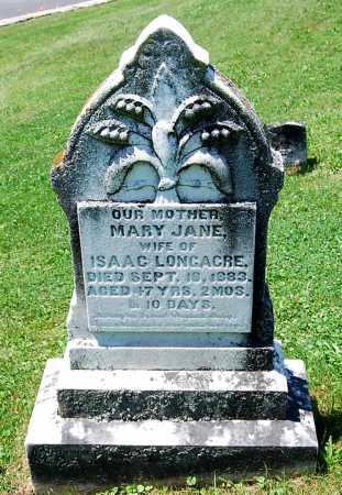 LONGACRE, MARY JANE - Juniata County, Pennsylvania | MARY JANE LONGACRE - Pennsylvania Gravestone Photos