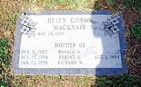 GILSON MACKNAIR, HELEN - Juniata County, Pennsylvania | HELEN GILSON MACKNAIR - Pennsylvania Gravestone Photos