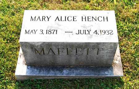 MAFFETT, MARY ALICE - Juniata County, Pennsylvania | MARY ALICE MAFFETT - Pennsylvania Gravestone Photos