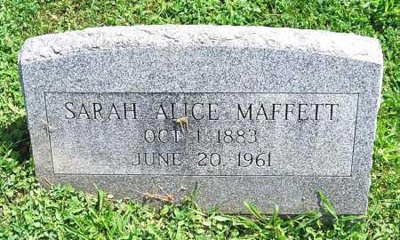 MAFFETT, SARAH ALICE - Juniata County, Pennsylvania | SARAH ALICE MAFFETT - Pennsylvania Gravestone Photos