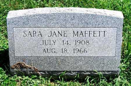 MAFFETT, SARA JANE - Juniata County, Pennsylvania | SARA JANE MAFFETT - Pennsylvania Gravestone Photos
