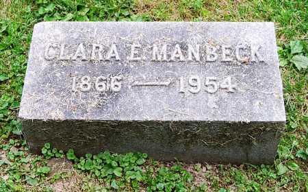MANBECK, CLARA E. - Juniata County, Pennsylvania | CLARA E. MANBECK - Pennsylvania Gravestone Photos