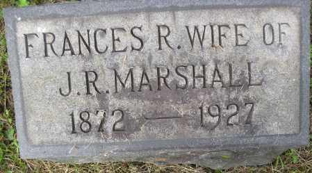 MARSHALL, FRANCES R. - Juniata County, Pennsylvania | FRANCES R. MARSHALL - Pennsylvania Gravestone Photos
