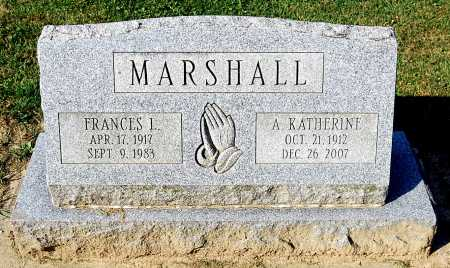 MARSHALL, A. KATHERINE - Juniata County, Pennsylvania | A. KATHERINE MARSHALL - Pennsylvania Gravestone Photos