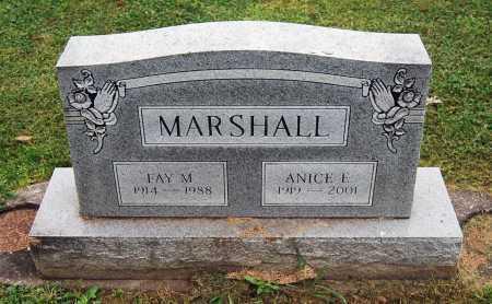 MARSHALL, FAY M. - Juniata County, Pennsylvania | FAY M. MARSHALL - Pennsylvania Gravestone Photos