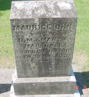 MARSHALL, MAURICE ORR - Juniata County, Pennsylvania   MAURICE ORR MARSHALL - Pennsylvania Gravestone Photos