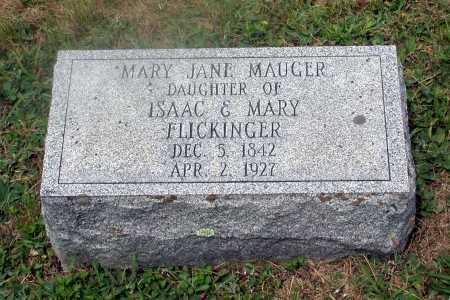 FLICKINGER MAUGER, MARY JANE - Juniata County, Pennsylvania | MARY JANE FLICKINGER MAUGER - Pennsylvania Gravestone Photos